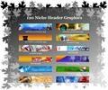 Thumbnail 120 High Quality Niche Header Graphics
