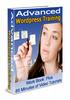 Thumbnail Advanced WordPress Training Videos (PLR)