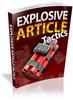 Thumbnail Explosive Article Tactics - Viral eBook plr