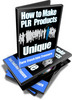 Thumbnail How to Make PLR Products Unique - Video Series (PLR)