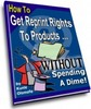 Thumbnail How to Get Free Reprint Rights PLR
