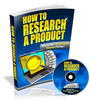 Thumbnail How to Research a Product - Video Series PLR