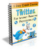 Thumbnail Twitter Crash Course - eCourse (PLR)