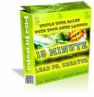 Pay for 15 Minute Lead Pg Creator (PLR)