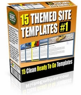 Pay for 15 Themed Site Templates V1 (PLR)