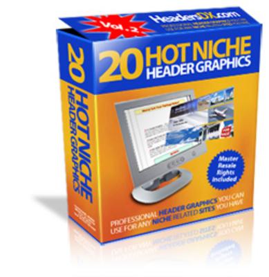 Pay for 20 Hot Niche Header Graphics V PLR