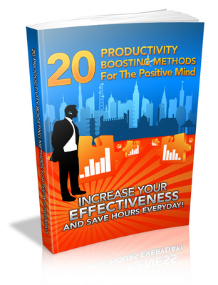 Pay for 20 Productivity Boosting Methods for the Positive Mind PLR