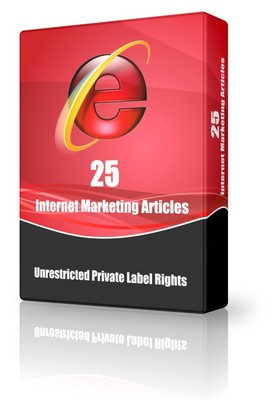 Pay for 25 Internet Marketing Articles - Aug 2010 (PLR)