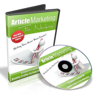 Pay for Article Marketing for Newbies - Video Series PLR