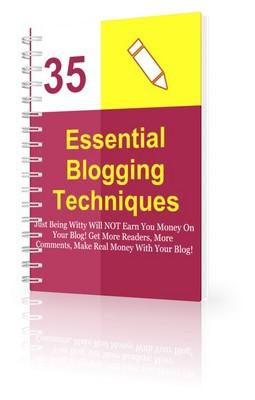 Pay for 35 Essential Blogging Techniques (PLR)