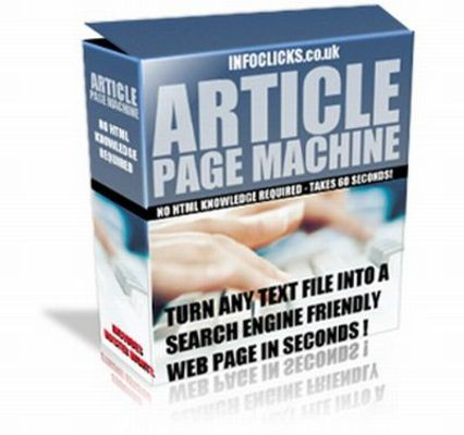 Pay for Article Page Machine plr