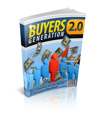 Pay for Buyers Generation 2.0 plr