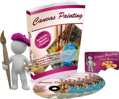 Pay for Canvas Painting Turnkey Niche Site and PLR eBook