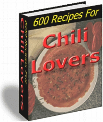 Pay for Chili Lovers Recipes (PLR)