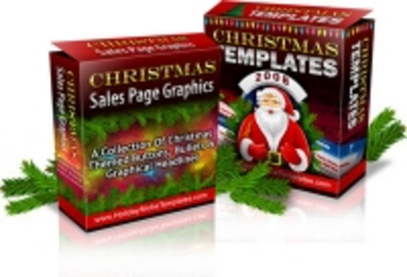 Pay for Christmas Graphics and Template Pack plr