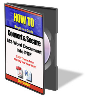 Pay for How to Convert Word Documents to PDF PLR