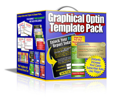 Pay for Graphical Optin Template Pack PLR