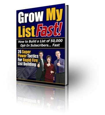 Pay for Grow My List Fast plr