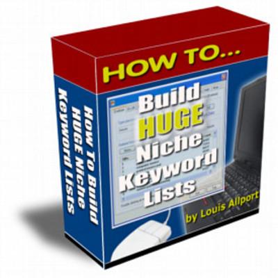 Pay for Huge Keyword Lists plr