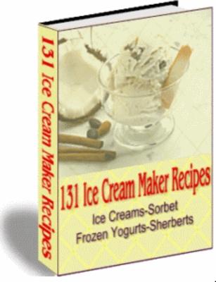 Pay for Ice Cream Maker Recipes (PLR)