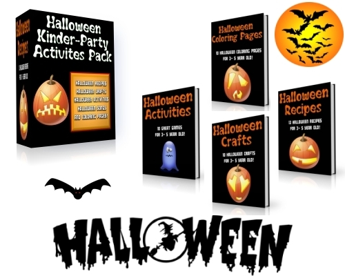 Pay for Halloween Kinder Party Activities Kit (PLR)