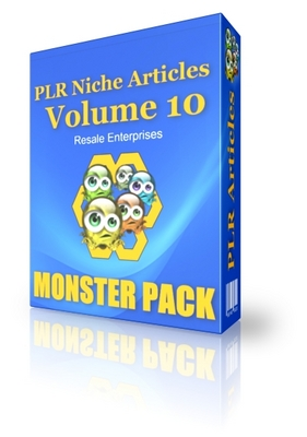 Pay for PLR Niche Articles Vol 10 - Monster Pack (PLR)