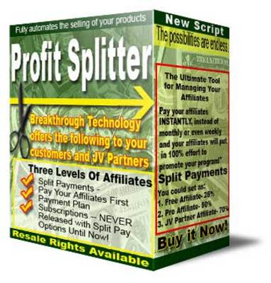 Pay for Profit Splitter (PLR)