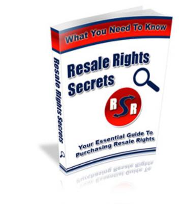 Pay for Resale Rights Secrets (PLR)