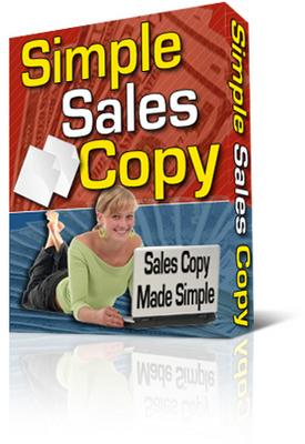 Pay for Simple Sales Copy (PLR)