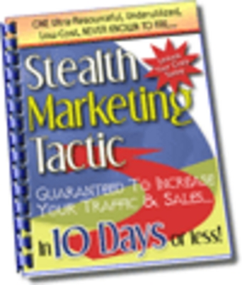 Pay for Stealth Marketing Tactics (PLR)