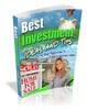 Thumbnail Best Investment Tips And Ideas Ebook MRR
