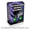 Thumbnail Ebook - How To Make Streaming Audio Buttons With Full Master Resale Rights