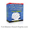 Thumbnail Ebook - How To Create Your Own Article Website With Full Master Resale Rights