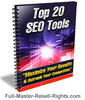 Thumbnail Ebook - Top 20 SEO Tools With Full Master Resale Rights