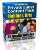 Thumbnail 35 Hobby And Craft PLR Articles