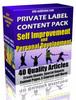 Thumbnail 40 Self Improvement PLR Articles