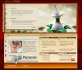 Thumbnail Female Personal Profile Webpage Flash Audio Website Template