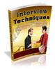 Thumbnail Job Interview Techniques