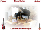 Thumbnail Guitar, Bass guitar, Piano Learn Music Overnight