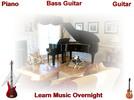 Thumbnail Guitar, Bass guitar, Piano Learn Music Overnight