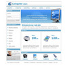 Thumbnail Online Store Computers Flash Website Template