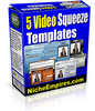 Thumbnail 5 Video Squeeze Page Templates