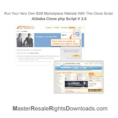 Pay for Alibaba Clone php Script