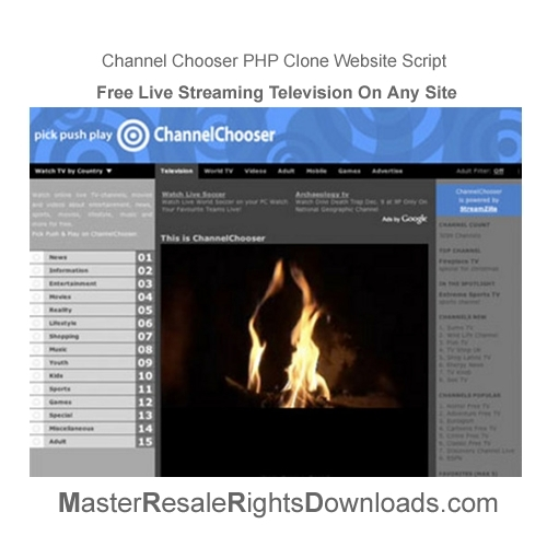 Pay for Channel Chooser Clone PHP Script