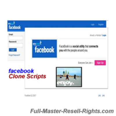 Pay for 2 Hot Facebook Clone Scripts With Full Master Resale Rights
