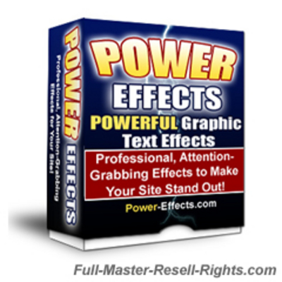 Pay for NEW The Power Effects V2 With Full Master Resale Rights