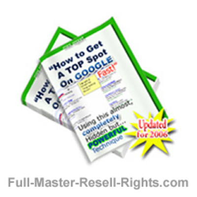 Pay for How To Get To The Top! Get The Top Spot On Google With Master Resale Rights