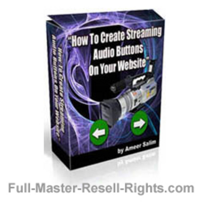 Pay for Ebook - How To Make Streaming Audio Buttons With Full Master Resale Rights