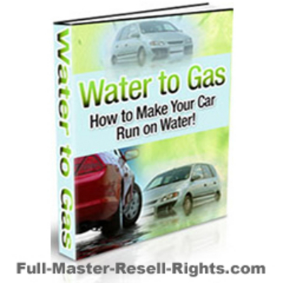 Pay for Ebook - Make Your Care Run On Water - Master Resale Rights