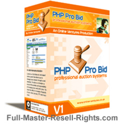 Pay for ProBids Auction Script With Master Resale Rights